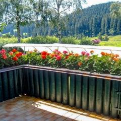 Terrasse mit Blick auf das Fischbachtal